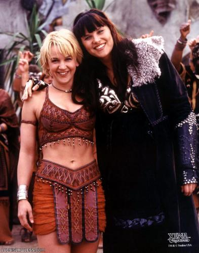 Consider, that Xena thought to spank both girls