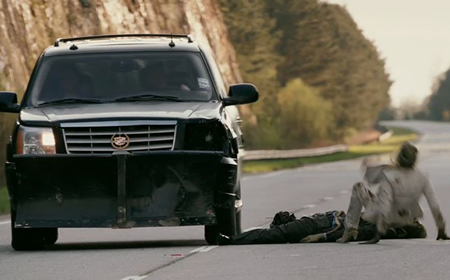 cadillac escalade zombieland with Zombieland on Showthread furthermore Which Cars Would Be Efficient Zombie Killing Machines as well Bob Marleys Dairy Delivery Silverado also Showthread moreover The walking dead zombie survival machine.