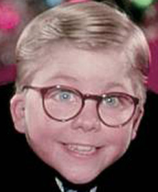 I love that he manages to smile like that right before Santa kicks him in the face. Ralph Wiggum ... - ralphie-tale