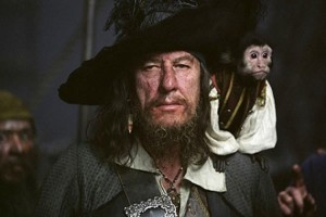 Is that a monkey on his shoulder or is your movie pirate boyfriend just happy to see me?