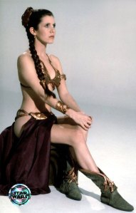 Oh, of course we weren't getting out of here without an actual Slave Leia picture, never fear.