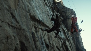 Like fight other ninja on a cliff, suspended by ropes, this will be the best movie EVAH!