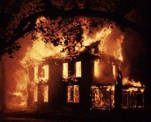 It's not a gothic novel till a house burns down.