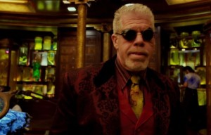 I couldn't find any pictures of Ron Perlman WITH bacon, which is good, I suppose, because the universe might have collapsed under the combined awesomeness.