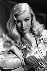 Yet another hairdo I could never imitate. Also the body type. Whatever. Veronica Lake might have been a famous movie star, but I'm aerodynamic.