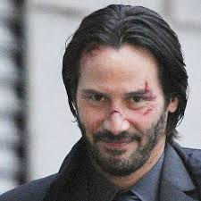 Why'd they mess up Keanu Reeves' face? His face is his best bit!