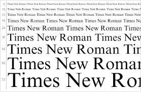 Oh, Times New Roman, you are a thing of beauty.