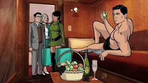 Sterling Archer, pictured here: Probably spying?