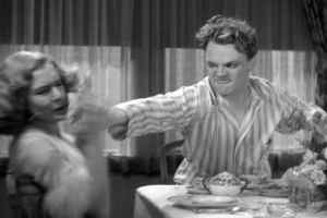 Poor Mae Clark, shown here in her most famous movie scene.