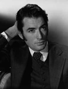 Here's a picture of Gregory Peck. With sideburns.