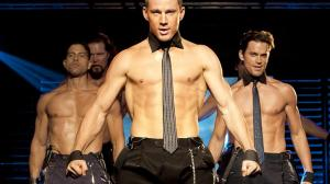 Like, I don't even understand why Channing Tatum and Matthew Bomer are wearing ties over their naked chests. Is that a thing? Is that a stripper thing?