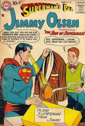 Just be glad it's the suit and not your face, Jimmy Olsen.