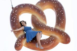I would, however, enjoy riding on a giant pretzel.