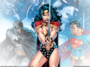 Ooh, but swords are cool too. Wonder Woman is so cool.